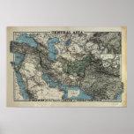 Mapa antiguo de Asia Central 1885 Posters