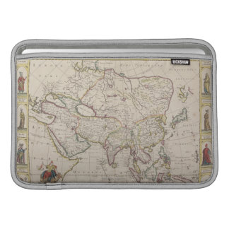 Mapa antiguo de Asia Funda Macbook Air
