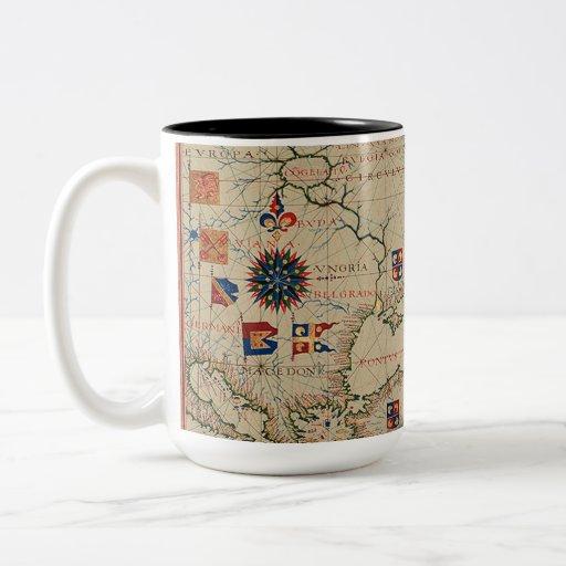 Mapa antiguo de Asia Menor Tazas De Café