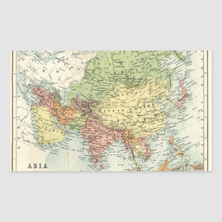 Mapa antiguo de Asia Rectangular Altavoz