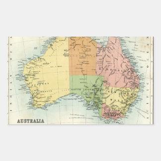 Mapa antiguo de Australia Pegatina
