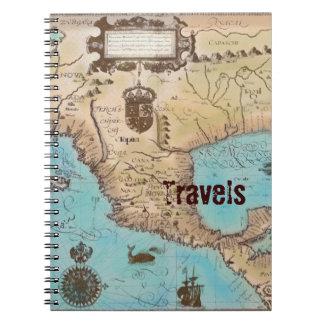 Mapa antiguo de California y de America Central Libretas
