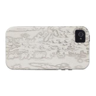 Mapa antiguo de Croacia Vibe iPhone 4 Carcasas