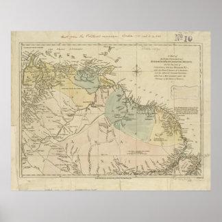 Mapa antiguo de Curaçao, Bonaire, Aruba, Suriname Posters