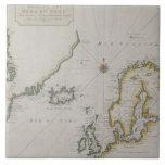 Mapa antiguo de Escandinavia 2 Azulejo