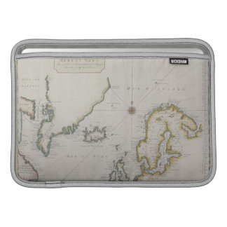 Mapa antiguo de Escandinavia 2 Funda MacBook