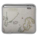 Mapa antiguo de Escandinavia 2 Mangas De iPad