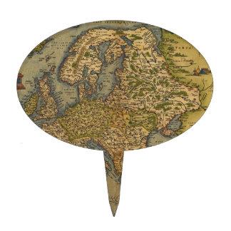 Mapa antiguo de Europa Figura De Tarta