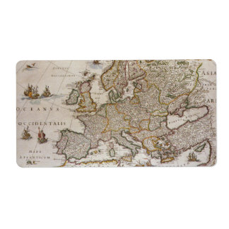 Mapa antiguo de Europa, c1617 de Willem Jansz Blae Etiqueta De Envío