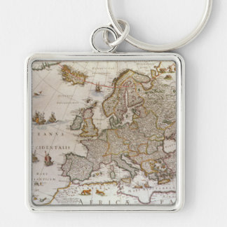 Mapa antiguo de Europa, c1617 de Willem Jansz Blae Llaveros Personalizados