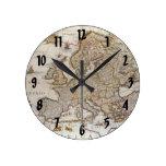 Mapa antiguo de Europa, c1617 de Willem Jansz Blae Relojes