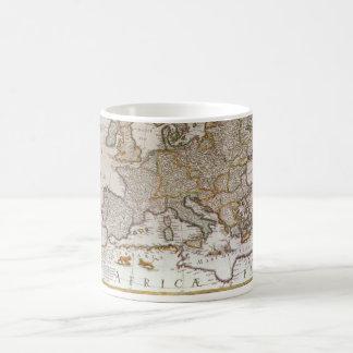 Mapa antiguo de Europa c1617 de Willem Jansz Blae Tazas De Café