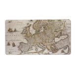 Mapa antiguo de Europa, c1617 de Willem Jansz Etiquetas De Envío