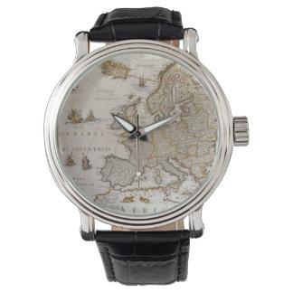 Mapa antiguo de Europa, c1617 de Willem Jansz Relojes De Mano