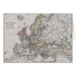 Mapa antiguo de Europa circa 1862 Tarjeta De Felicitación
