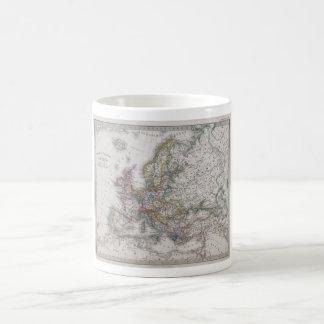 Mapa antiguo de Europa circa 1862 Taza