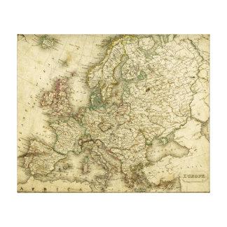 Mapa antiguo de Europa Impresiones En Lona