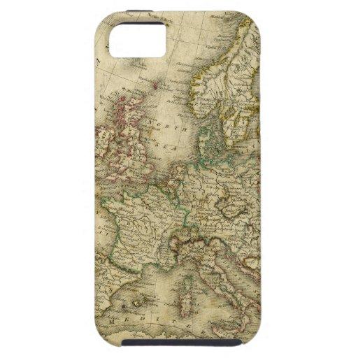 Mapa antiguo de Europa iPhone 5 Cárcasa