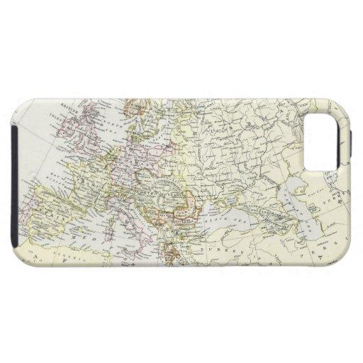 Mapa antiguo de Europa iPhone 5 Fundas