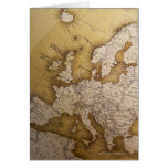 Mapa antiguo de Europa. Mundo viejo Felicitacion