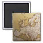 Mapa antiguo de Europa. Mundo viejo Iman De Nevera