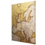 Mapa antiguo de Europa. Mundo viejo Impresiones En Lona