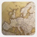 Mapa antiguo de Europa. Mundo viejo Colcomanias Cuadradas