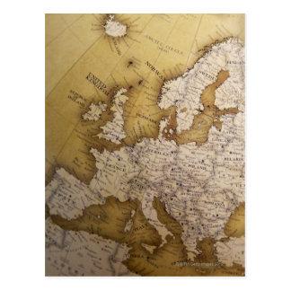 Mapa antiguo de Europa. Mundo viejo Postal