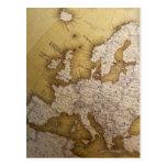 Mapa antiguo de Europa. Mundo viejo Postales