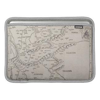 Mapa antiguo de Europa Oriental Funda MacBook