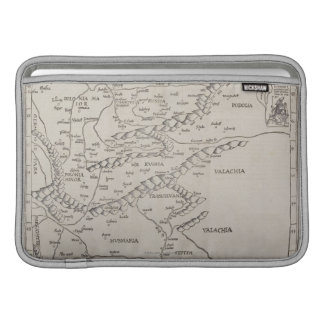 Mapa antiguo de Europa Oriental Funda Macbook Air