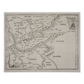 Mapa antiguo de Europa Oriental Posters