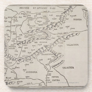 Mapa antiguo de Europa Oriental Posavasos