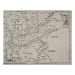 Mapa antiguo de Europa Oriental Póster