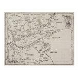 Mapa antiguo de Europa Oriental Tarjeta Postal