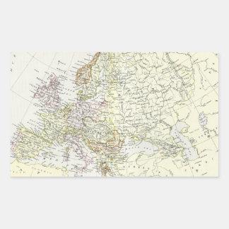 Mapa antiguo de Europa Pegatina Rectangular