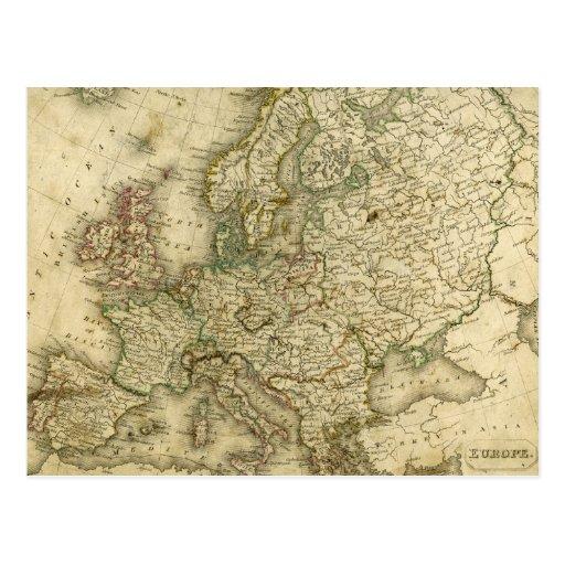 Mapa antiguo de Europa Postal