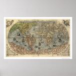Mapa antiguo de Forlani del mundo de Pablo Forlani Impresiones