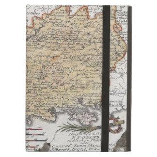 Mapa antiguo de Inglaterra meridional, Devon, Corn
