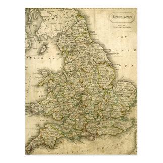 Mapa antiguo de Inglaterra y de País de Gales Postales