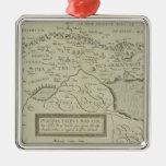 Mapa antiguo de la Tierra Santa Ornamentos De Reyes