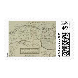 Mapa antiguo de la Tierra Santa Estampillas