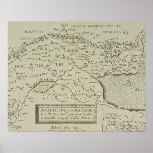 Mapa antiguo de la Tierra Santa Poster