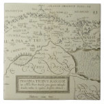 Mapa antiguo de la Tierra Santa Teja Ceramica