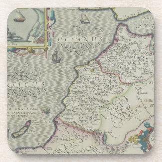 Mapa antiguo de las Áfricas occidentales Posavasos