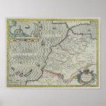 Mapa antiguo de las Áfricas occidentales Póster