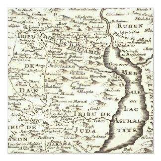"""Mapa antiguo de las invitaciones de Miztvah de la Invitación 5.25"""" X 5.25"""""""
