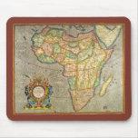 Mapa antiguo de Mercator del Viejo Mundo de África Alfombrilla De Ratón