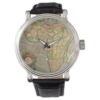 Mapa antiguo de Mercator del Viejo Mundo de Relojes De Mano