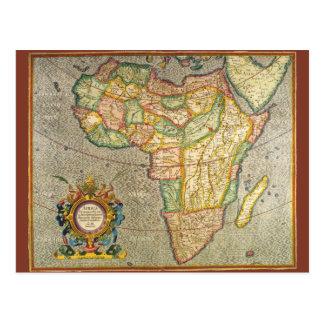 Mapa antiguo de Mercator del Viejo Mundo de Postal